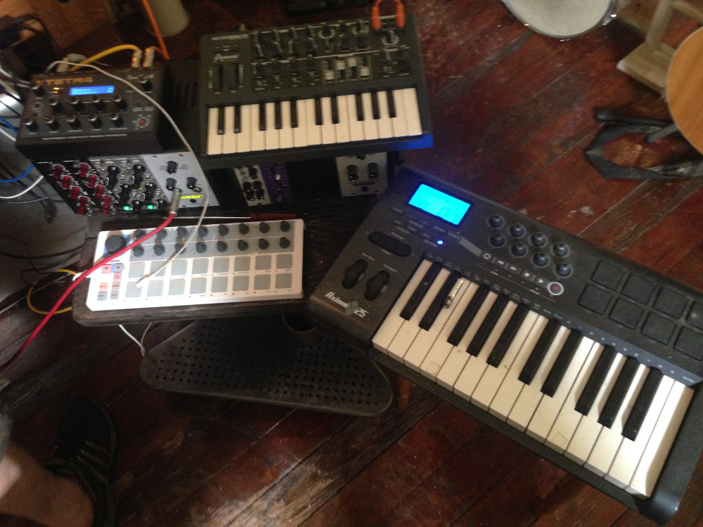 MIDI controllers these aren't -- analog synths in charge.