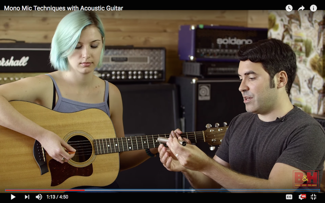 Best Ways to Record Acoustic Guitar With a Single Mic [Video]