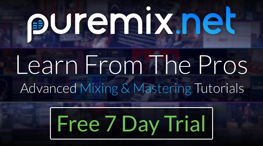 LAST CHANCE for 1 Free Week of Pro Audio Tutorials from pureMix.net!