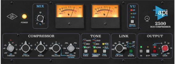Universal Audio New Plug-Ins – API 2500 Bus Compressor, Chandler Limiter, Brainworx Stereo Tapped Delay