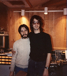 John Agnello with his mentor, William Wittman, at The Record Plant, NY
