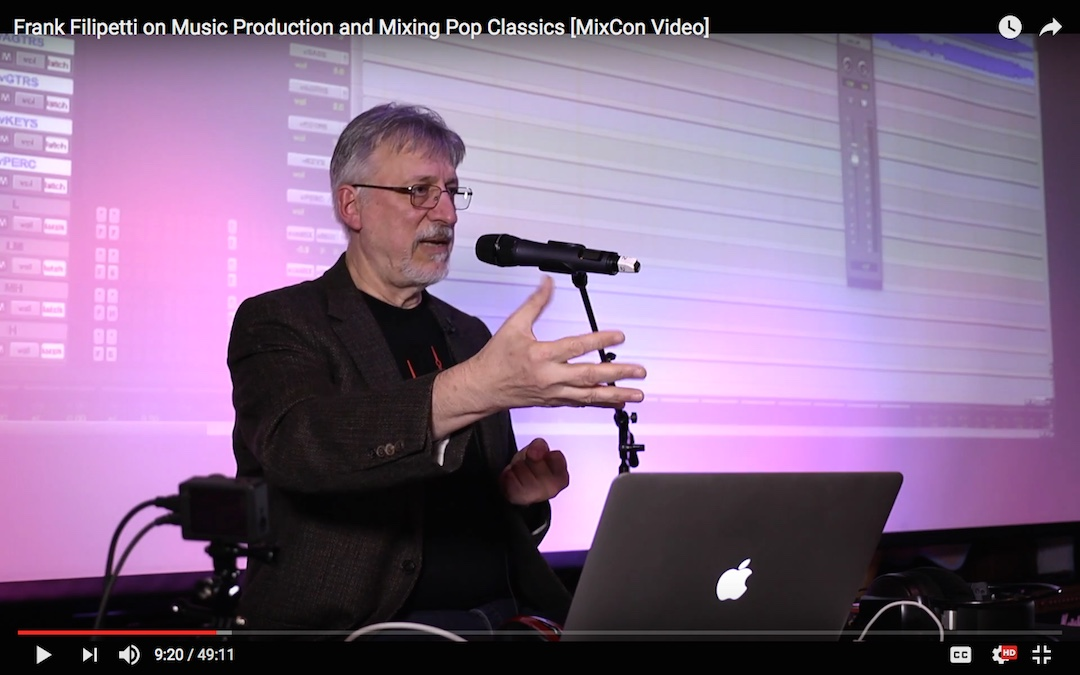 Frank Filipetti on Music Production and Mixing Pop Classics [MixCon Video]
