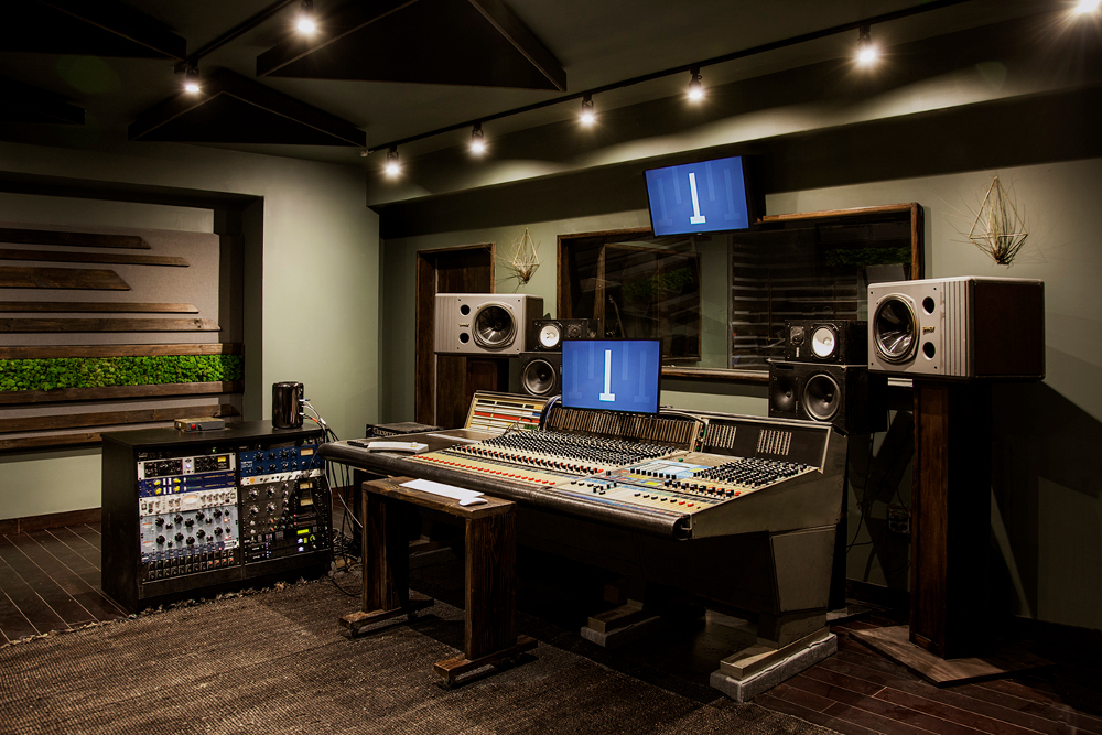 32 channels of Neve center Studio A in Greenpoint's Shifted Recording.