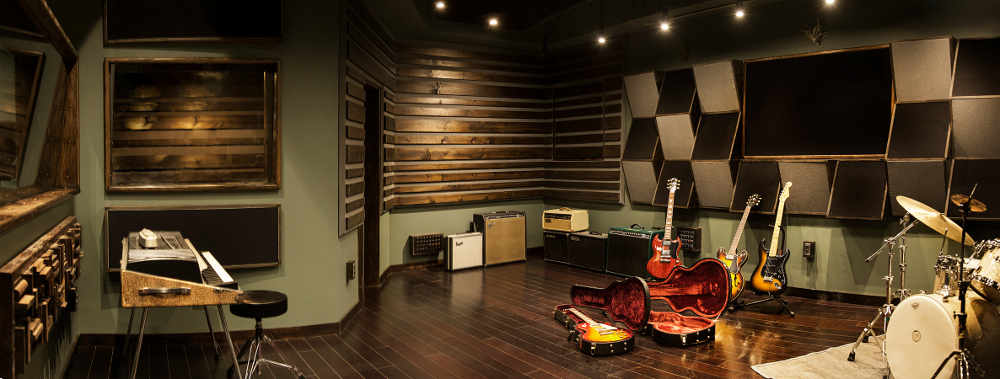 The 360 square-foot live room can be home to an inspiring range of instruments and amps.