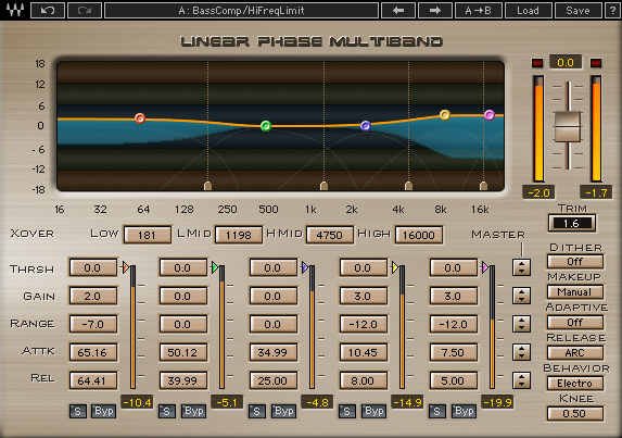 Multiband compressors allow you to process some bands and exclude others. Sometimes, the best way to use a multiband compressor is to leave some bands turned OFF.
