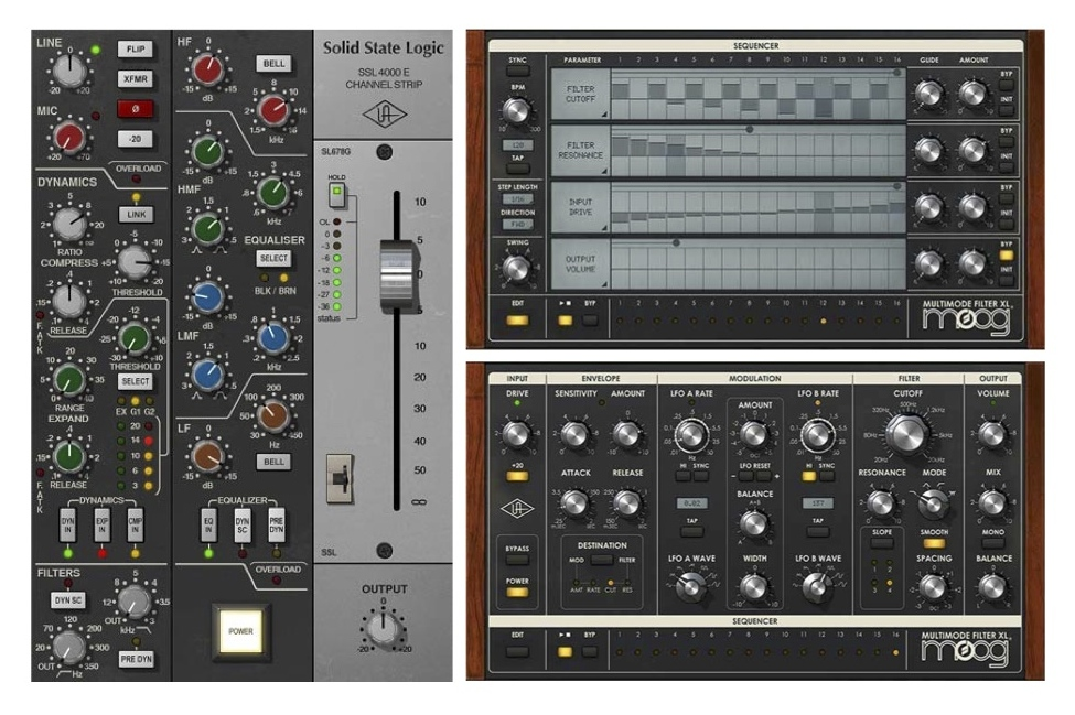 "New Gear Alert: Plugin Overload! New SSL & Moog Offerings from UA, SPL Microplugs ""Plus"" by Plugin Alliance, Free EQs & More"