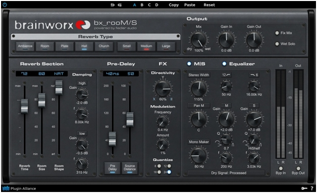 New Software Review: bx_rooMS Reverb from Brainworx and Plugin Alliance