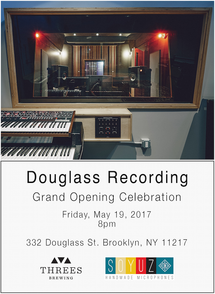 NYC Event: Douglass Recording Grand Opening Party in Brooklyn, This Friday 5/19