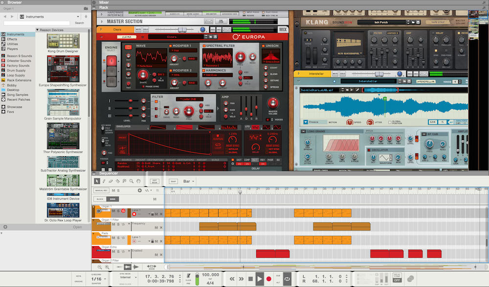 New Gear Alert: Propellerhead's Reason 10, Red 16Line Interface by Focusrite, PreSonus StudioLive Rack Mixers & More