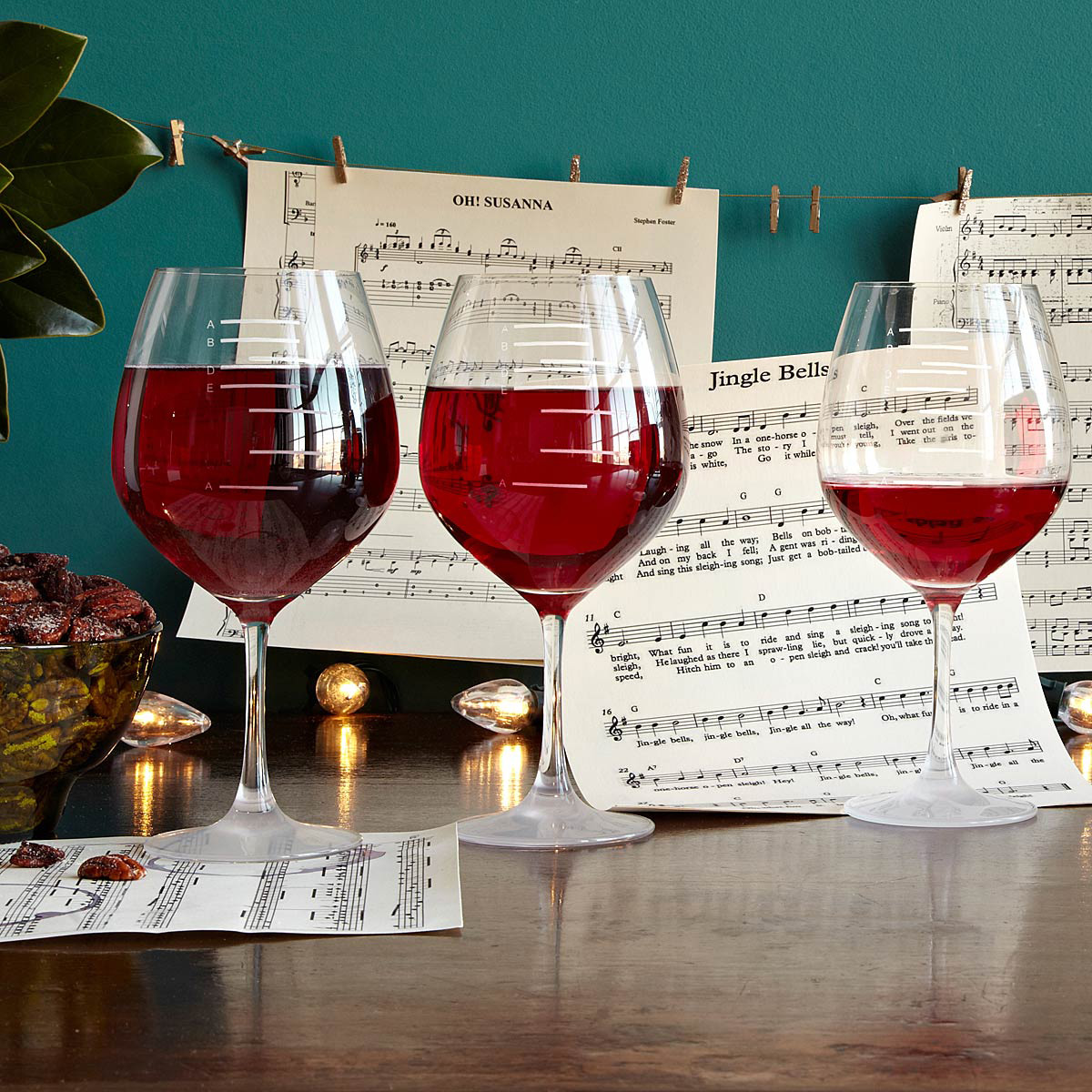 Major Scale Musical Wine Gles 1