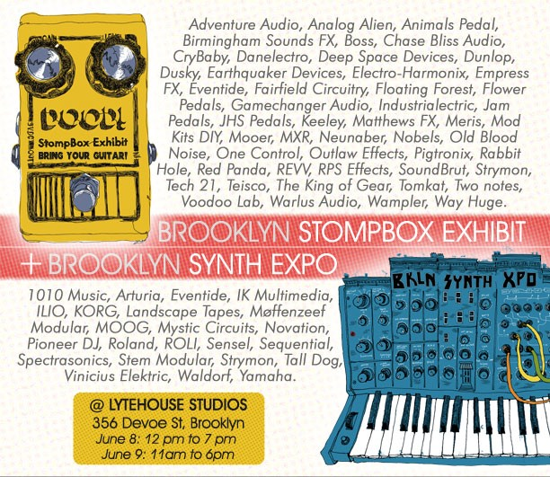 NYC Event Alert: Brooklyn Synth Expo and Stompbox Exhibit